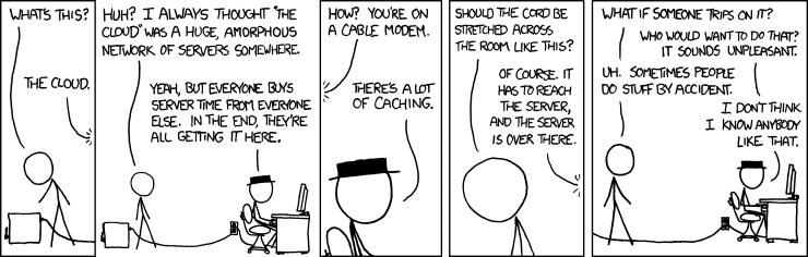 Cloud computing comic by xkcd