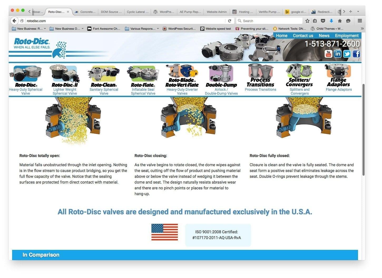 Mobile-friendly Web Design / Website Design for Rotodisc, Cincinnati