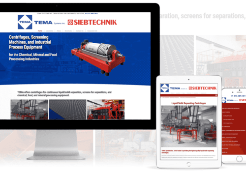 Industrial Centrifuges Website Design