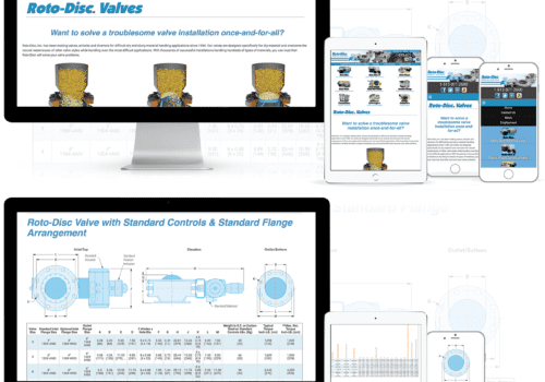 Responsive, Mobile Friendly Website Design And Mobile-Friendly Charts For Industrial Valve Company