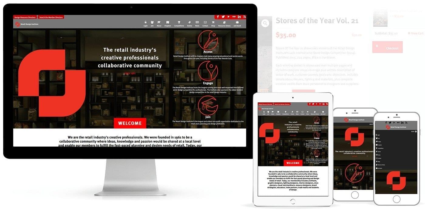 Membership Website and Business Association Website Design Screenshots.