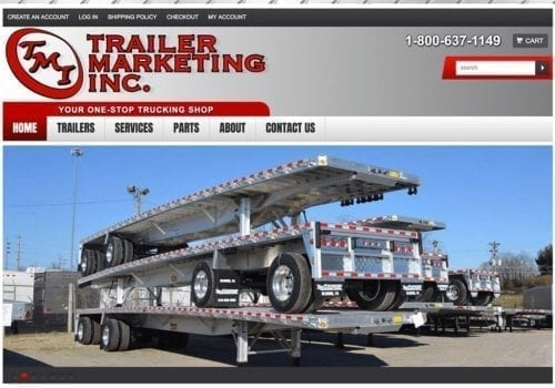 ECommerce Website For Trailer Marketing